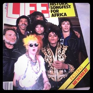 Vintage LIFE Magazine 1985 Songfest for Africa